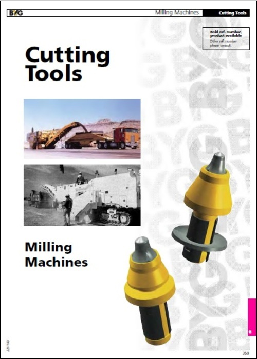 Cutting Tools for Milling Machines Parts Manual