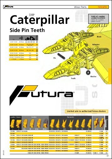 Caterpillar Side Pin Teeth Parts Manual