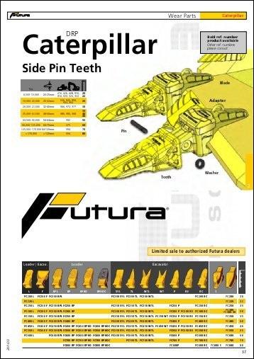 Caterpillar Side Pin Teeth Parts Manual