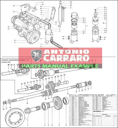Antonio Carraro parts manual