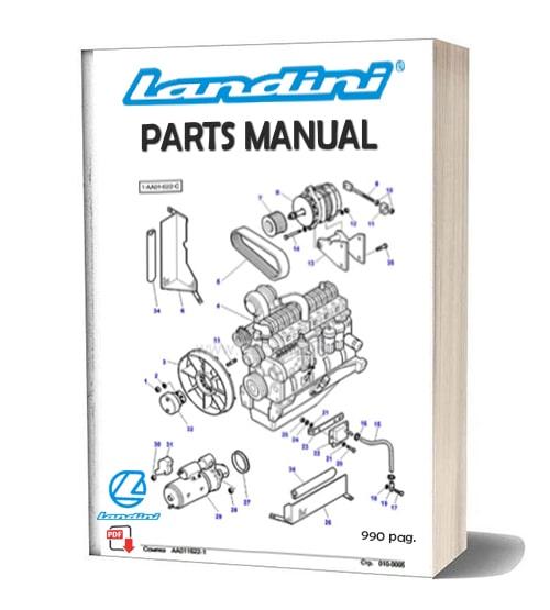 Landini 6860 New parts catalog