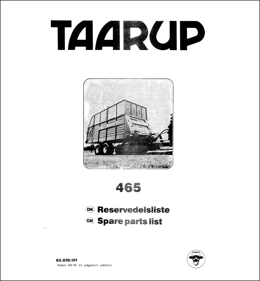 Taarup 465 spare parts manual
