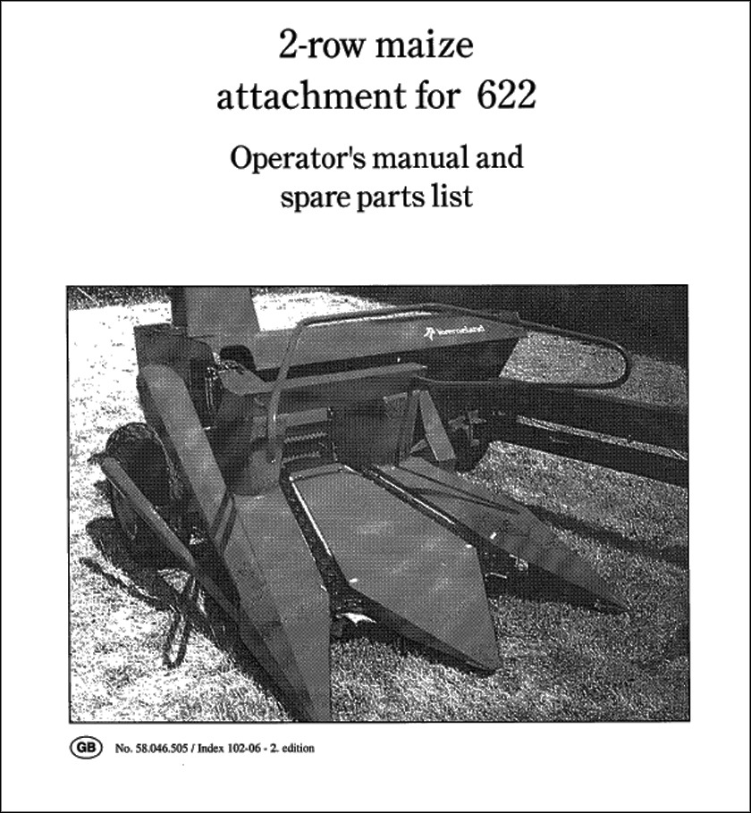 Taarup 622 spare parts manual