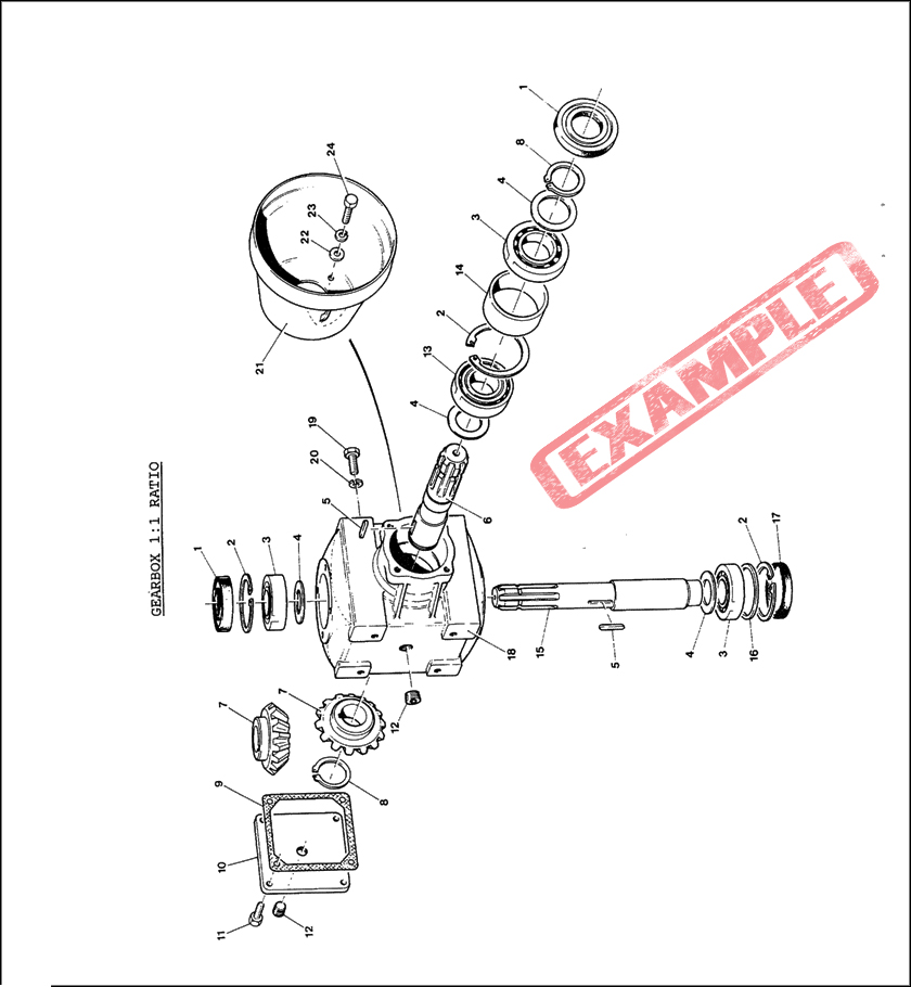 Taarup KD806 KD807 spare parts manual