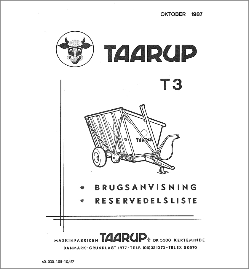 Taarup T3 spare parts manual