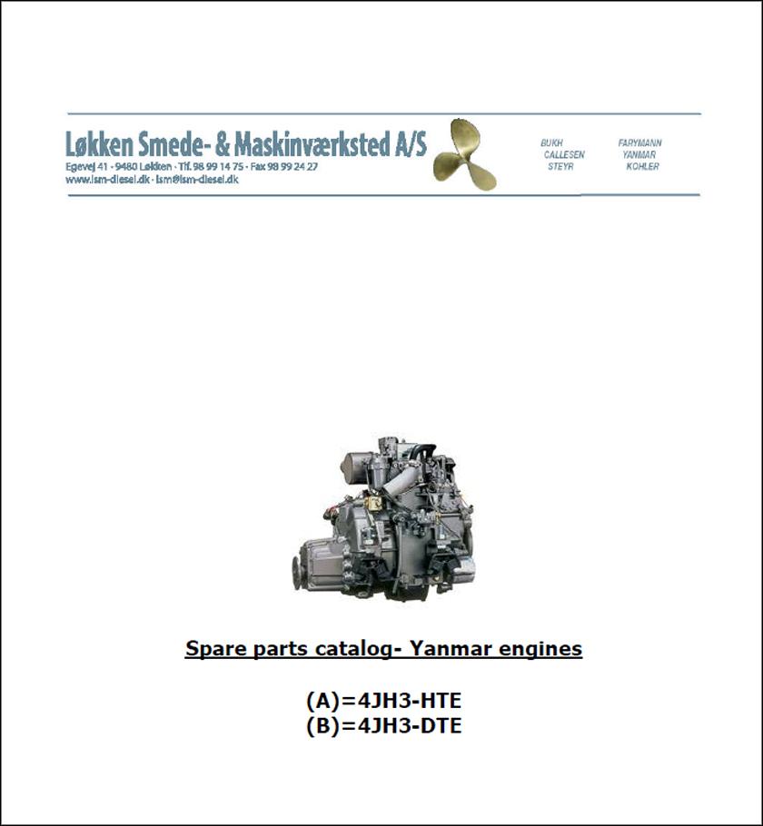 Yanmar 4JH3-HTE-DTE spare parts catalog