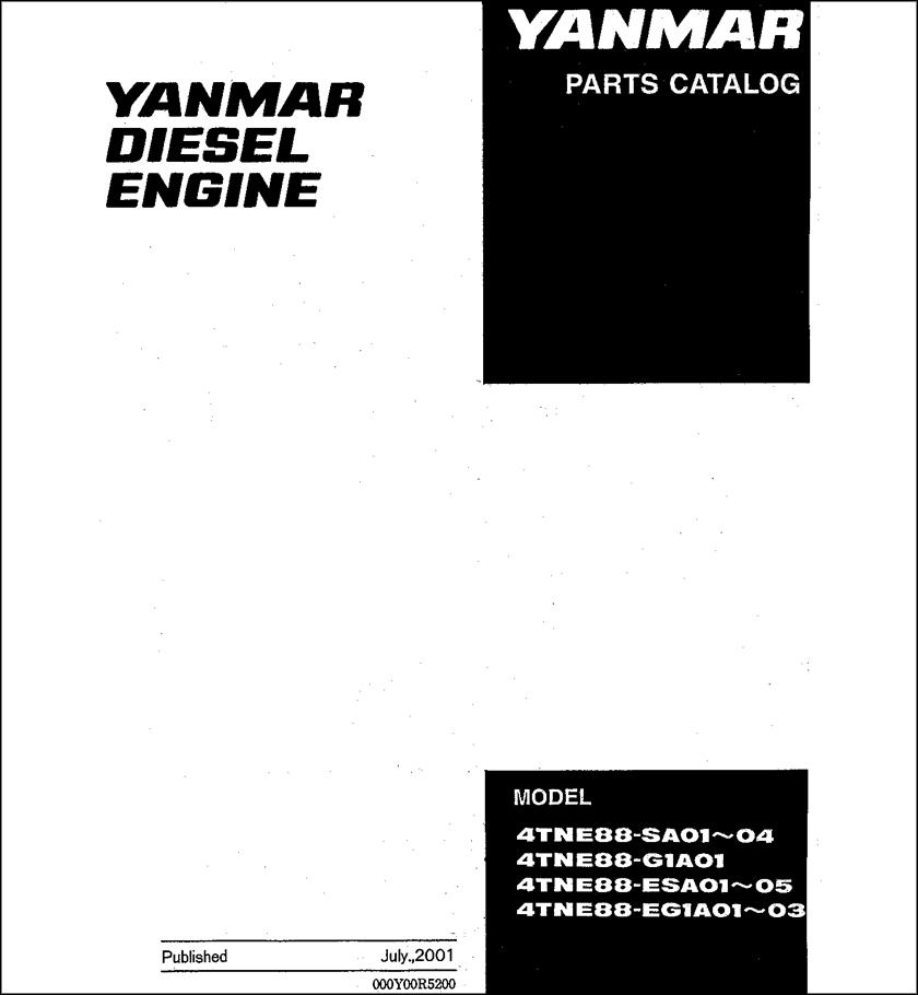 Yanmar 4TNE88-SA01 spare parts catalog