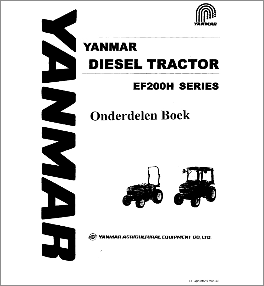 Yanmar EF200H spare parts catalog