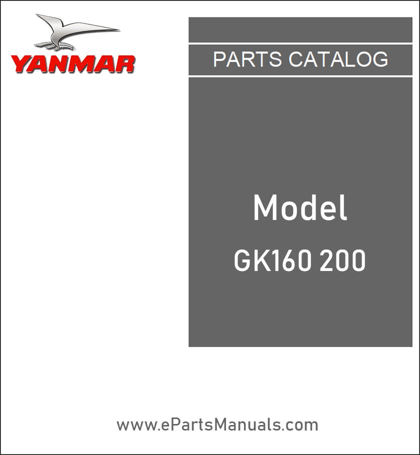 Yanmar GK160 200 spare parts catalog