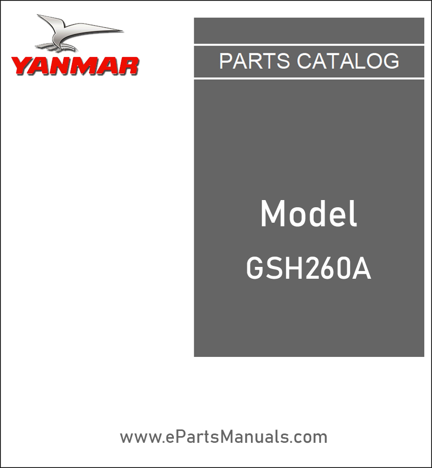 Yanmar GSH260A spare parts catalog
