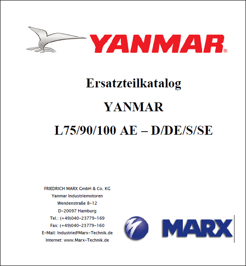 Yanmar L75 L90 L100 Parts Catalog Manual