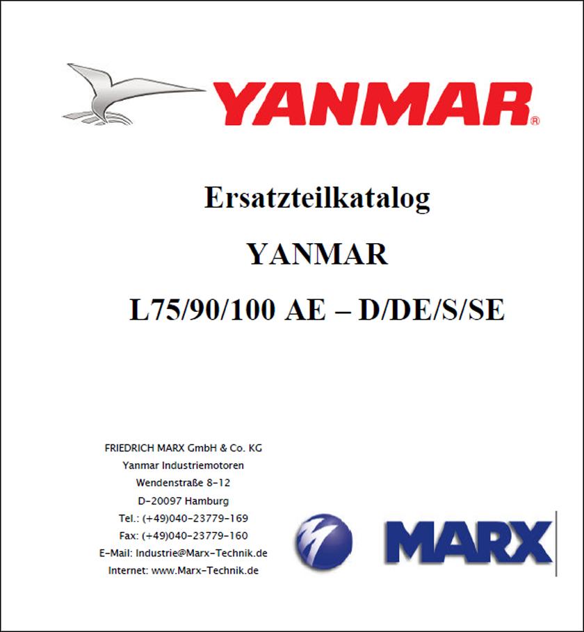 Yanmar L75 L90 L100 spare parts catalog