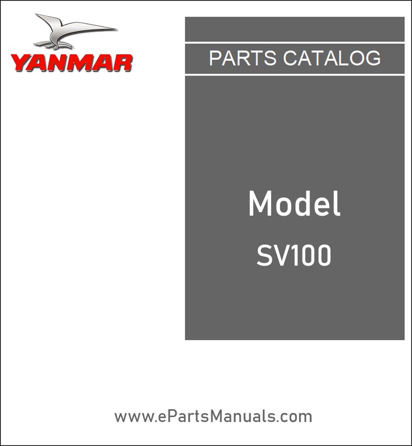 Yanmar SV100 spare parts catalog