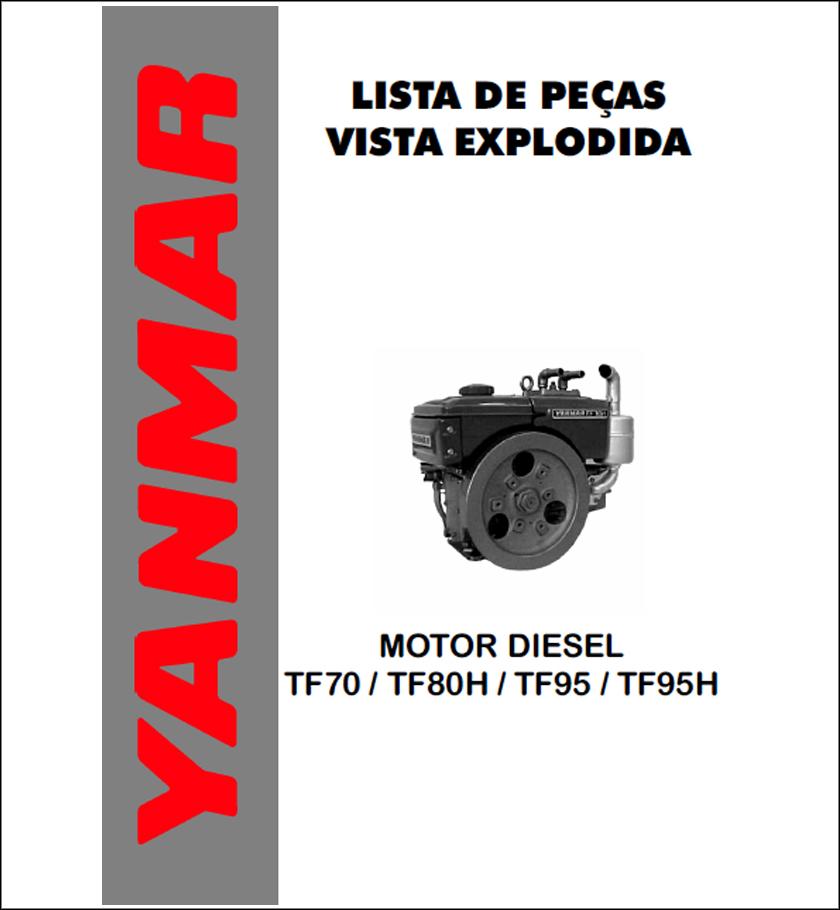 Yanmar TF70 TF80 TF95 TF95H spare parts catalog