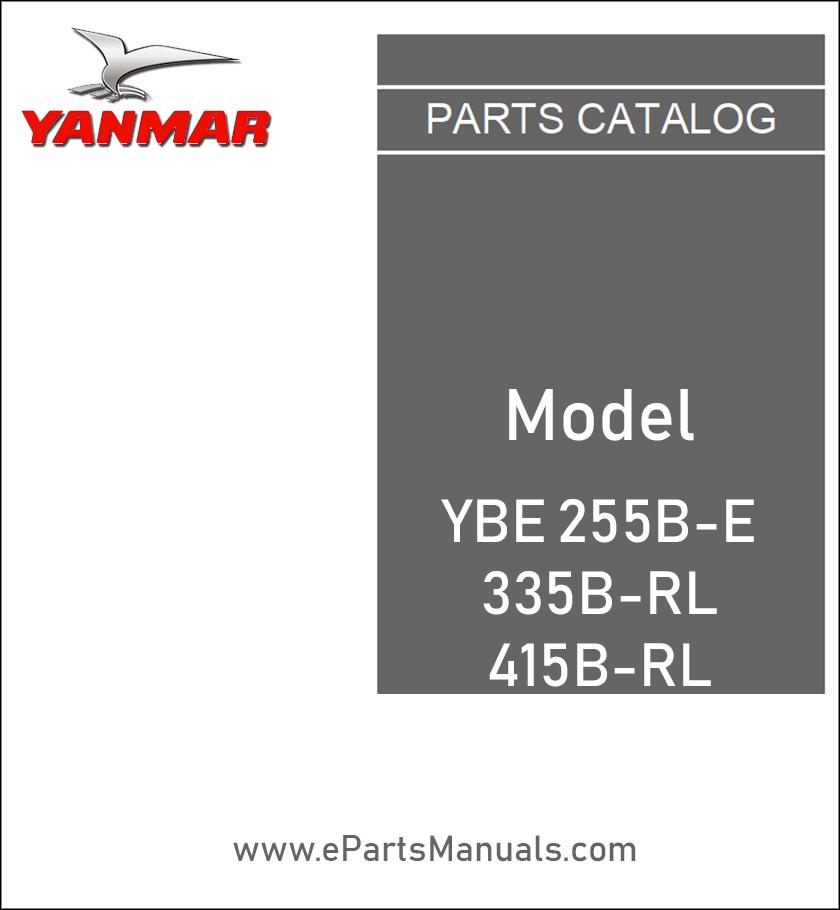 Yanmar YBE255B-E spare parts catalog