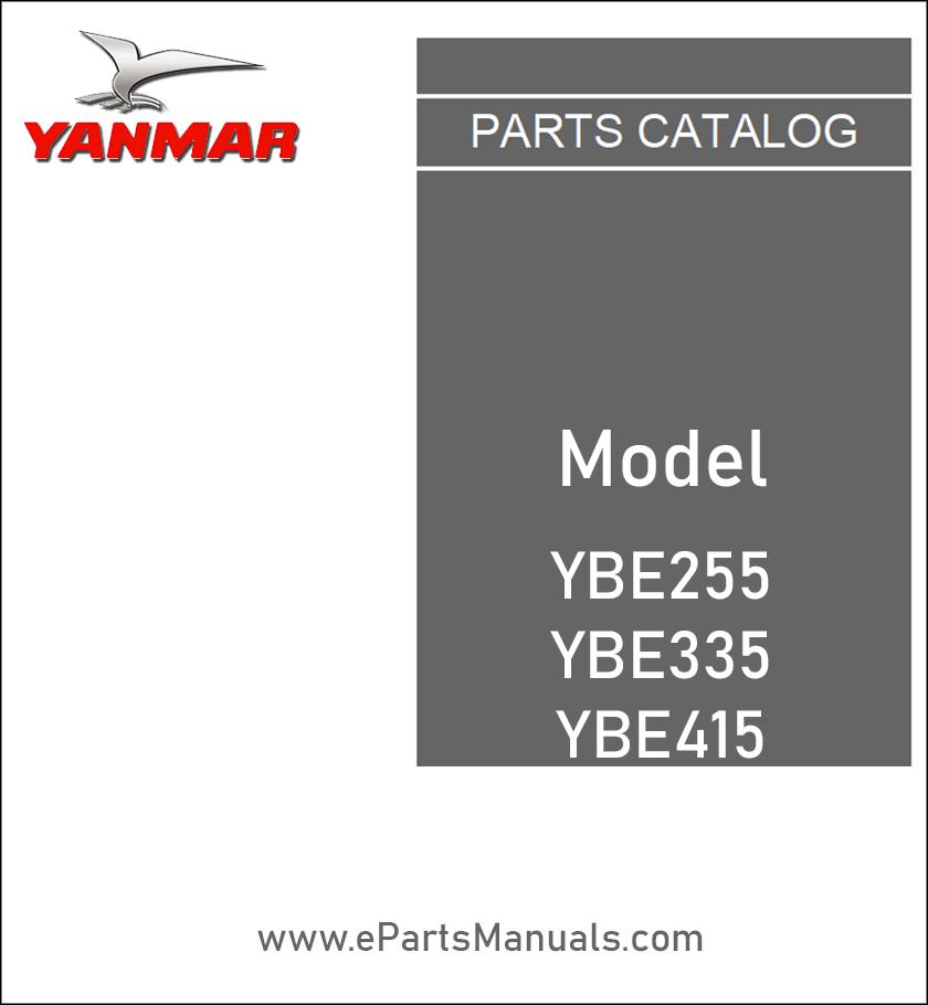 Yanmar YBE255 YBE335 YBE415 spare parts catalog
