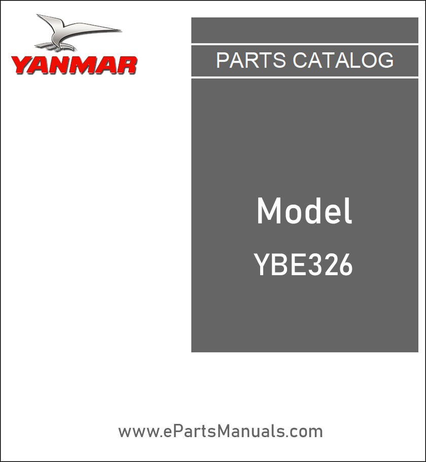 Yanmar YBE326 spare parts catalog