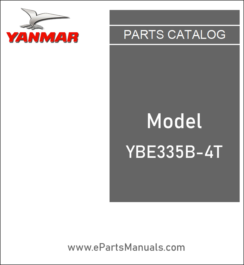 Yanmar YBE335B-4T spare parts catalog