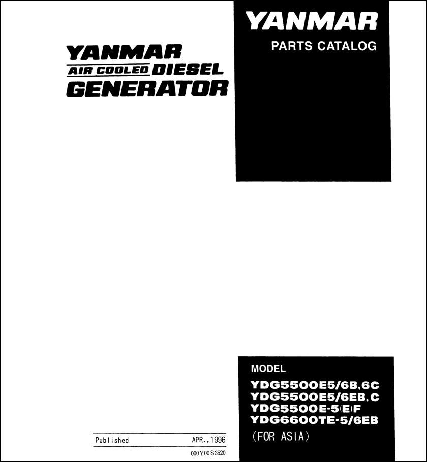 Yanmar YDG5500E spare parts catalog