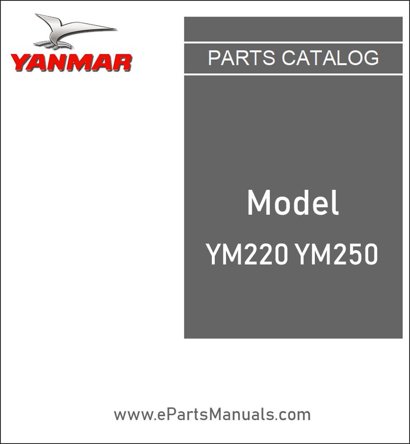 Yanmar YM220 YM250 spare parts catalog