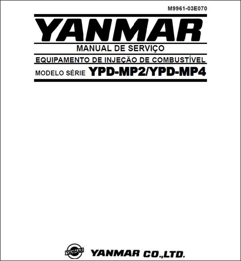 Yanmar YPD (MP2 and MP4) service manual