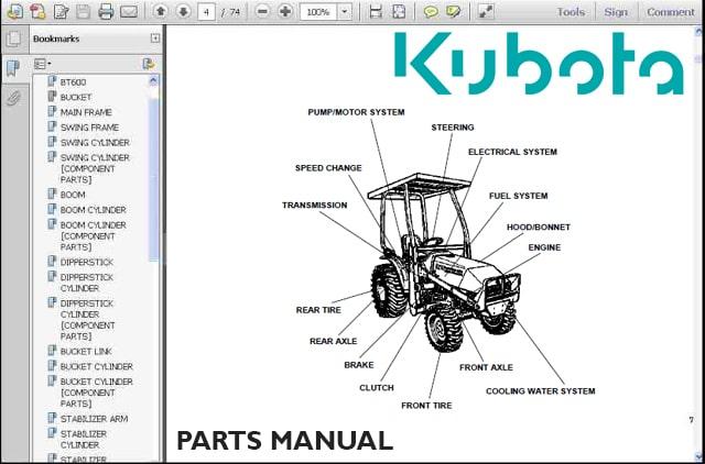 Kubota-Parts-Manual-Catalog-for-Tractors