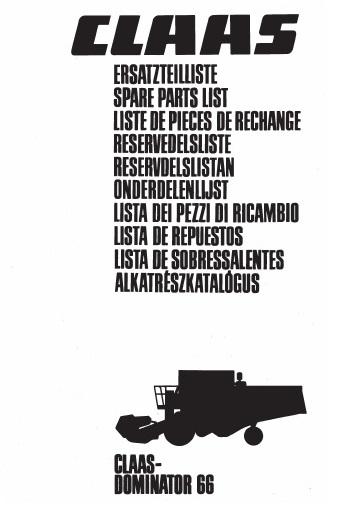 Claas Parts Manual Catalog