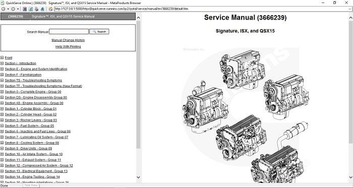Cummins Signature ISX QSX15 Service Manual