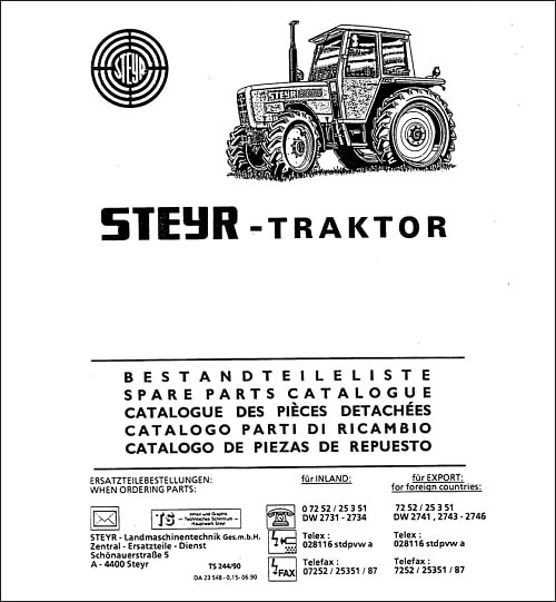 Steyr Parts Manual Catalog Collection Download