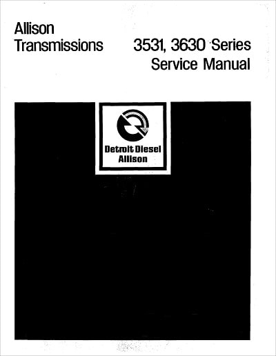 Allison 3531 3630 Service Manual for Powershift Models