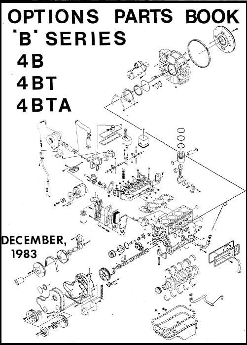 Cummins B 4B 4BT 4BTA Parts Manual for 1983