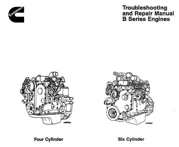 Cummins B Series Engines Repair Manual and Troubleshooting 1991-1994