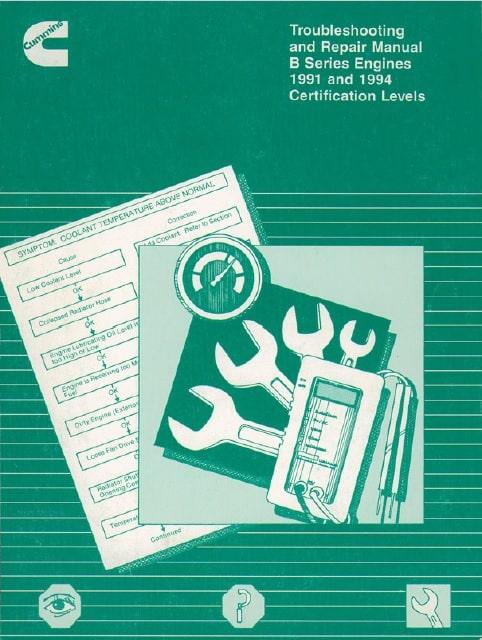Cummins Engine B Series B3.9 B5.9 Workshop Service Repair Manual Pdf Download 4BT3.9 6BT5.9 1991 1992 1993 1994