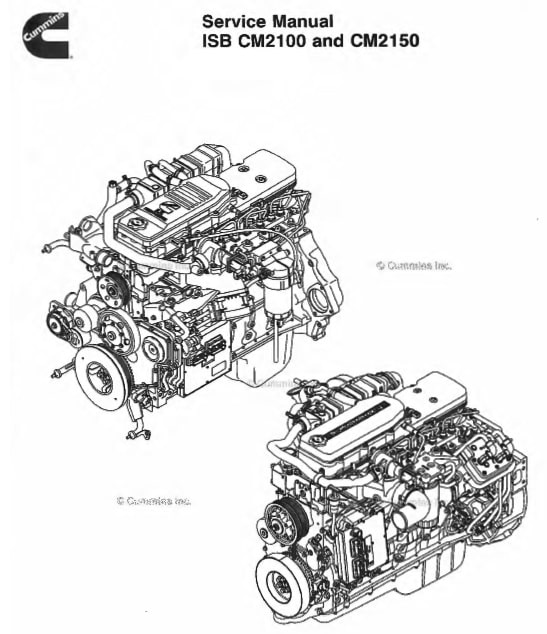 Cummins ISB CM2100 and CM2150 Service Manual PDF