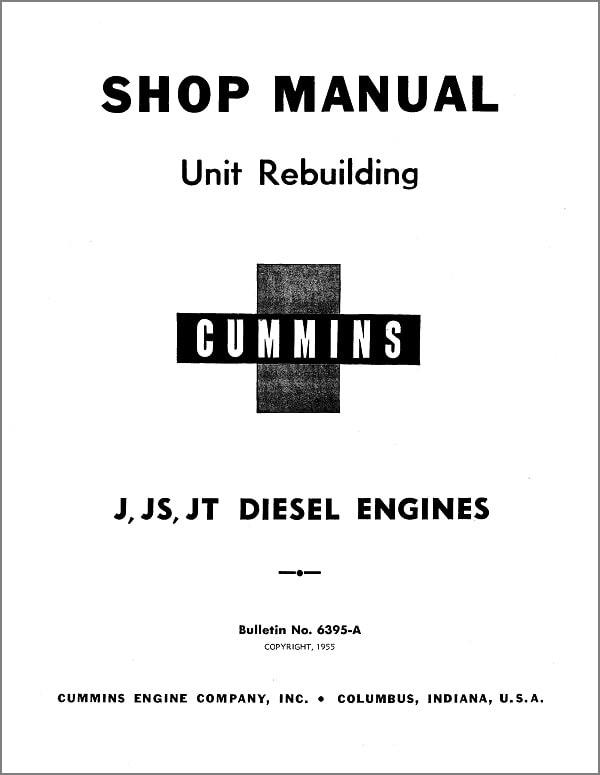 Cummins J JS JT Shop Manual for Diesel Engines-min