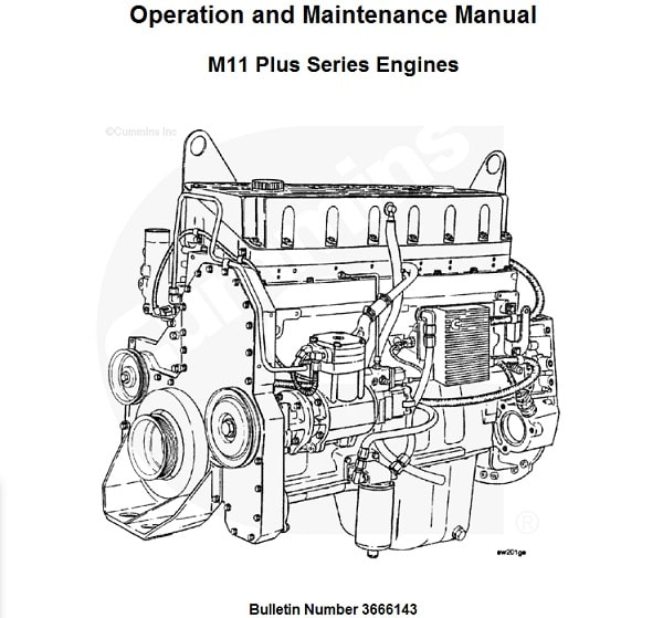 Cummins M11 Plus Series Engines Operation and Maintenance Manual Software