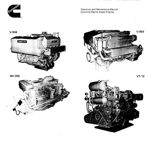 Cummins Marine Diesel Engines Operation and Maintenance Manual for Repair