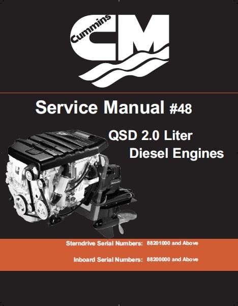 Cummins QSD 2.0 Service Manual MerCruiser  Diesel engines