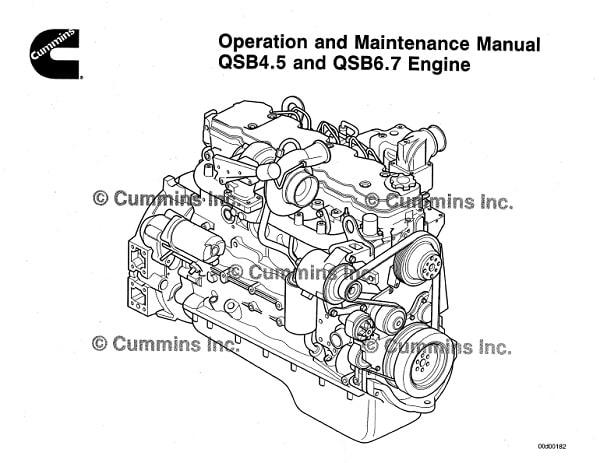 Cummins QSB4.5 and QSB6.7 Engine Operation and Maintenance Manual PDF