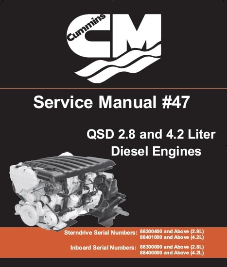 Cummins QSD 2.8 and 4.2 Liter Service Manual for Diesel Engines