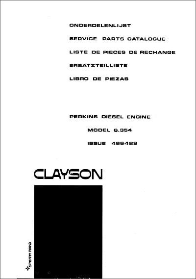 New Holland 6.354 Parts Manual